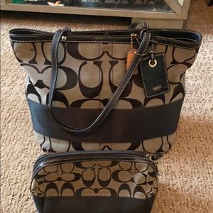 Coach Purse and cosmetic/jewelry case